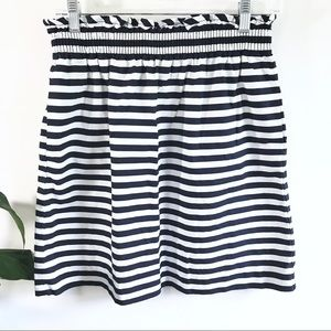 J. Crew striped City Mini skirt